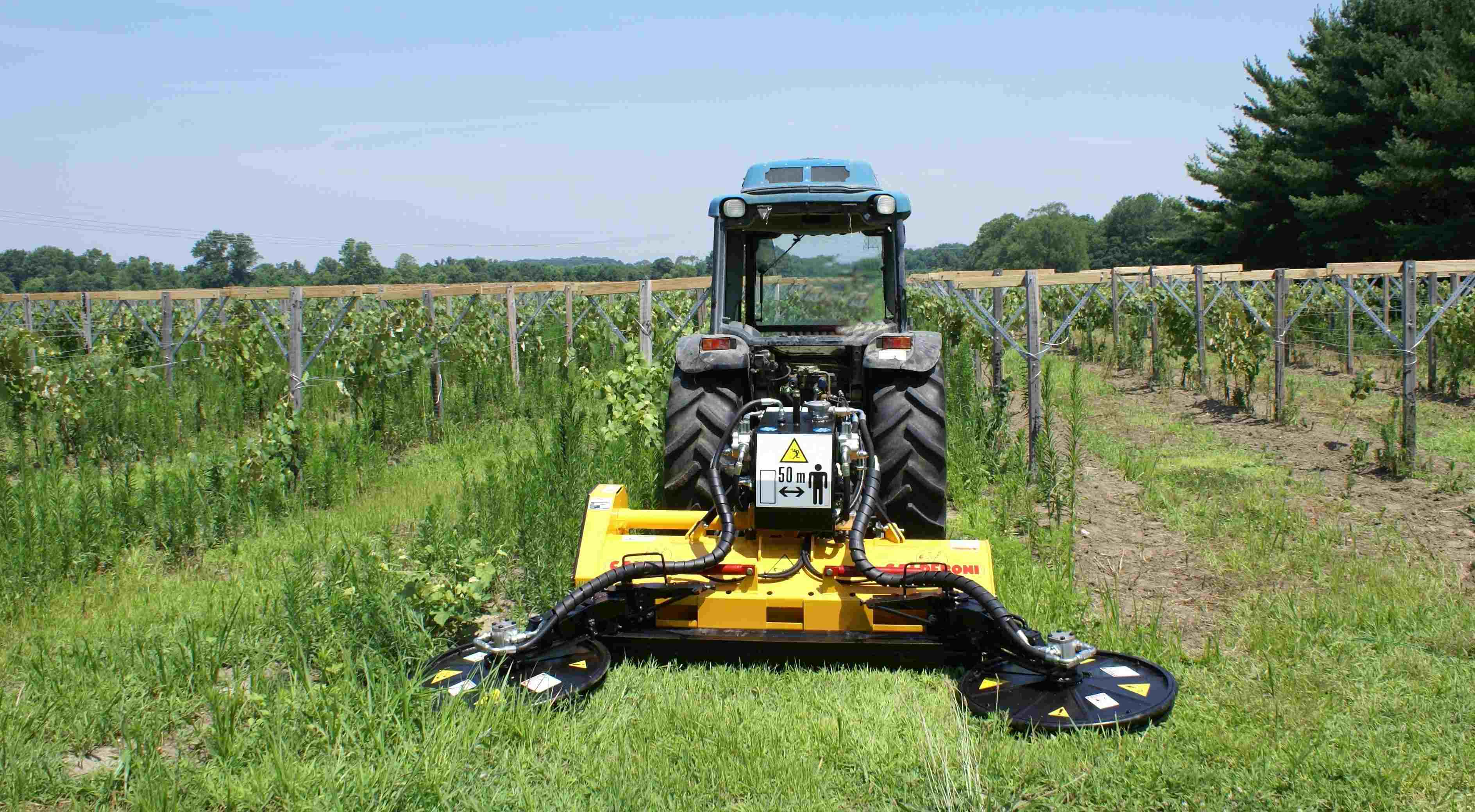 Vineyard mower
